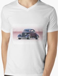 1935 Ford 5 Window Coupe Mens V-Neck T-Shirt