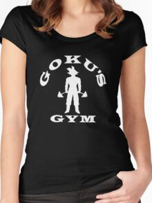 Goku's Gym (White) Women's Fitted Scoop T-Shirt
