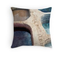 Colour Pools: Fes Tanneries Throw Pillow