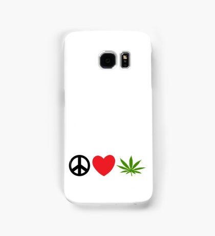 Peace Love Marijuana Samsung Galaxy Case/Skin