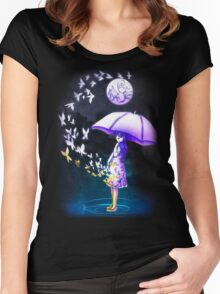 The Girl is Fading . Ver: Magic Women's Fitted Scoop T-Shirt
