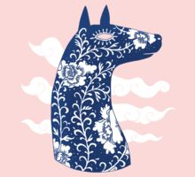 The Water Horse in Blue and White Kids Clothes