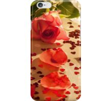 Rose confetti petals hearts iPhone Case/Skin