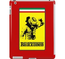 Kimi Raikkonen Ferrari Badge iPad Case/Skin
