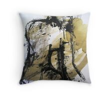 Seated Nude White Froth and Bubble Throw Pillow