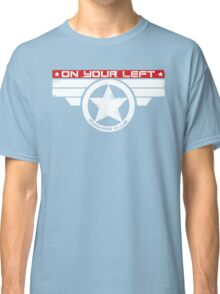 """""""On Your Left Running Club"""" Hybrid Inverted Classic T-Shirt"""