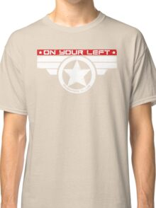 """On Your Left Running Club"" Hybrid Inverted Classic T-Shirt"