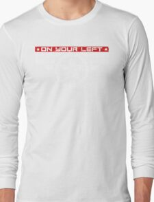"""""""On Your Left Running Club"""" Hybrid Inverted Long Sleeve T-Shirt"""