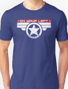 """On Your Left Running Club"" Hybrid Inverted Unisex T-Shirt"