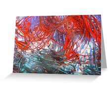 Abstract - Swirl of Colours Greeting Card