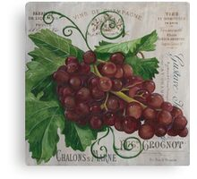 French Wine Red Grapes Canvas Print