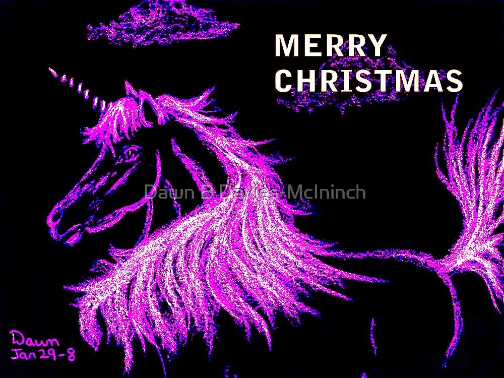 Christmas Unicorn by Dawn B Davies-McIninch