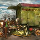 Steampunk - Street Cleaner - The hygiene machine 1910 by Mike  Savad