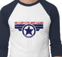 """""""On Your Left Running Club"""" Hybrid Men's Baseball ¾ T-Shirt"""