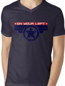"""""""On Your Left Running Club"""" Hybrid Mens V-Neck T-Shirt"""