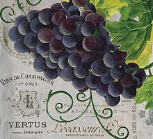 French Purple Grapes by Debbie DeWitt