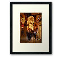 Christmas shopping, Palma.. Framed Print