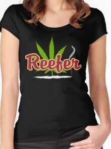 Reefer Marijuana Women's Fitted Scoop T-Shirt