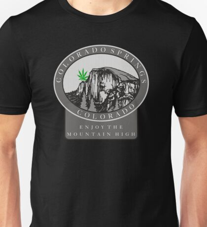 Marijuana Colorado Springs Unisex T-Shirt