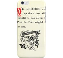 The Tale of Peter Rabbitt Beatrix Potter 1916 0035 McGregor With Sieve Peter Wriggled Out Just in Time iPhone Case/Skin