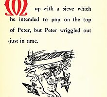 The Tale of Peter Rabbitt Beatrix Potter 1916 0035 McGregor With Sieve Peter Wriggled Out Just in Time by wetdryvac