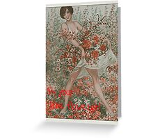 I'm your little flowergirl Greeting Card