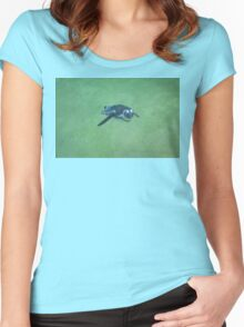 Penguin under Water Women's Fitted Scoop T-Shirt