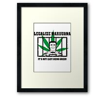 Legalize Marijuana Framed Print