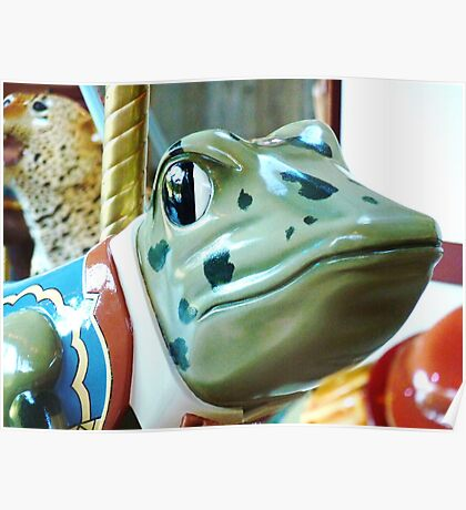 Frog Face Poster