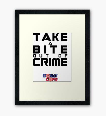 Take a bite out of crime Framed Print