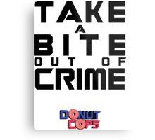 Take a bite out of crime Metal Print