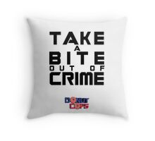 Take a bite out of crime Throw Pillow