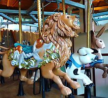 Carousel Lion, Boar and Bunny by MischaC