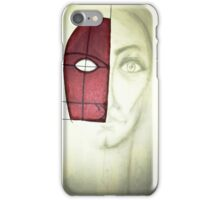 Red mask iPhone Case/Skin