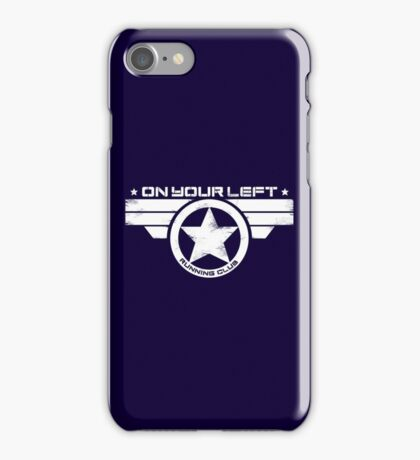 """On Your Left Running Club"" Distressed Print 2 iPhone Case/Skin"