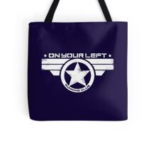 """""""On Your Left Running Club"""" Distressed Print 2 Tote Bag"""