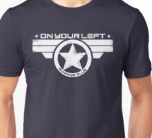 """On Your Left Running Club"" Distressed Print 2 Unisex T-Shirt"