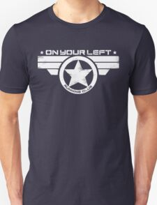 """""""On Your Left Running Club"""" Distressed Print 2 T-Shirt"""