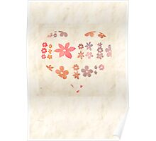 flowers end heart Poster