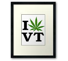 I Marijuana Vermont Framed Print