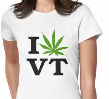 I Marijuana Vermont Womens Fitted T-Shirt