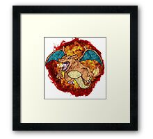 Charizards Don't Look At Explosions... Framed Print