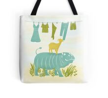 Humphrey the Hippo and the Cameroon Mountain Goat Tote Bag