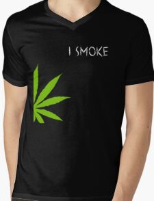 I Smoke Marijuana Mens V-Neck T-Shirt