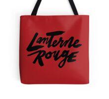 Lanterne Rouge : Black Script Tote Bag