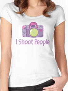I Shoot People Cute Camera Photography T Shirt Women's Fitted Scoop T-Shirt