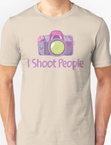 I Shoot People Cute Camera Photography T Shirt T-Shirt