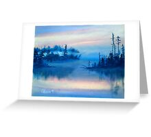 Blue Solitude Greeting Card