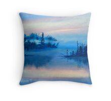 Blue Solitude Throw Pillow