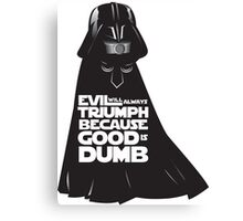 Dark Helmet - Spaceballs Canvas Print